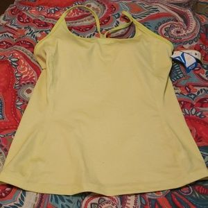 Green/yellow exercise top